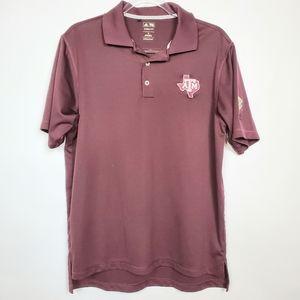 Texas Aggie Adidas golf polo style shirt size Med
